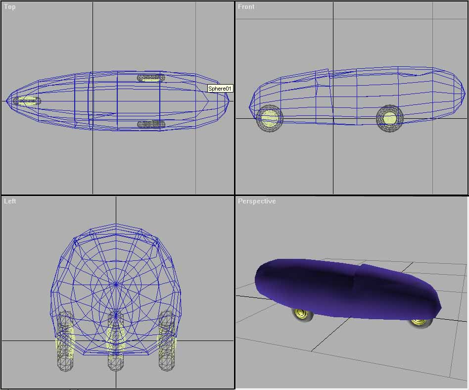 3d model of the dymaxion car